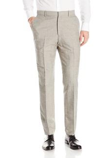 Perry Ellis Men's Slim Fit Linen Cotton End On Flat Front Pant  34x32