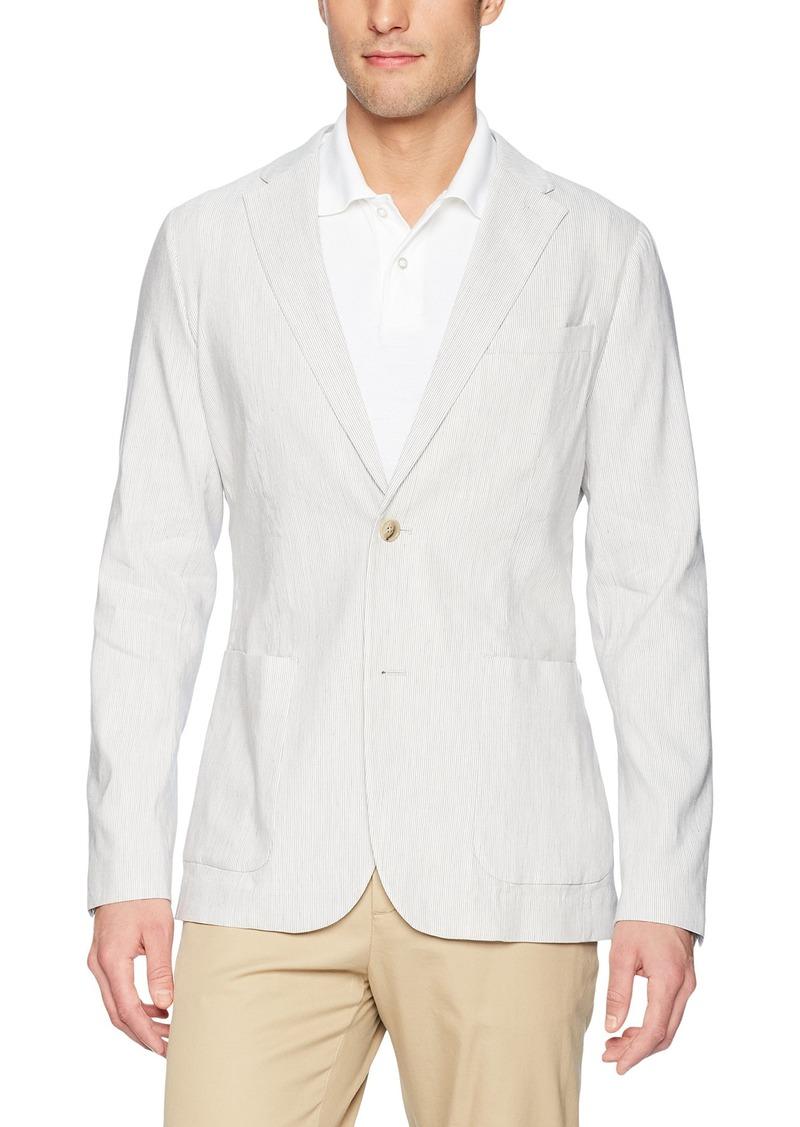 Perry Ellis Men's Slim Fit Linen Sport Jacket Natural Extra Large