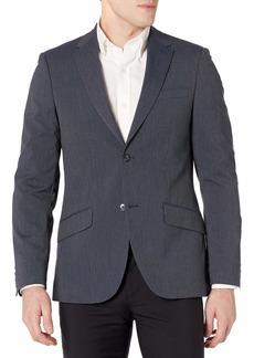Perry Ellis Men's Slim Fit Machine Washable Striped Suit Jacket  Small/ Regular