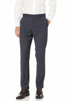 Perry Ellis Men's Slim Fit Micro Check Stretch Pant Dark Sapphire-4EMB4317