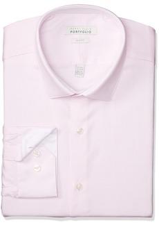Perry Ellis Men's Slim Fit Performance Nailhead Dobby Dress Shirt  14.5 32/33