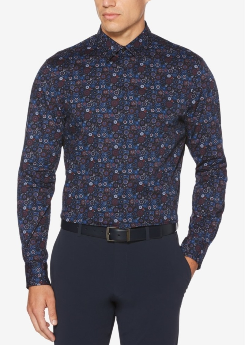 Perry Ellis Men's Slim-Fit Performance Stretch Circle-Print Shirt
