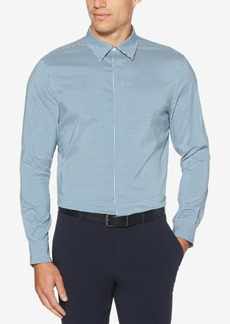 Perry Ellis Men's Slim-Fit Performance Stretch Quick-Dry Check Shirt