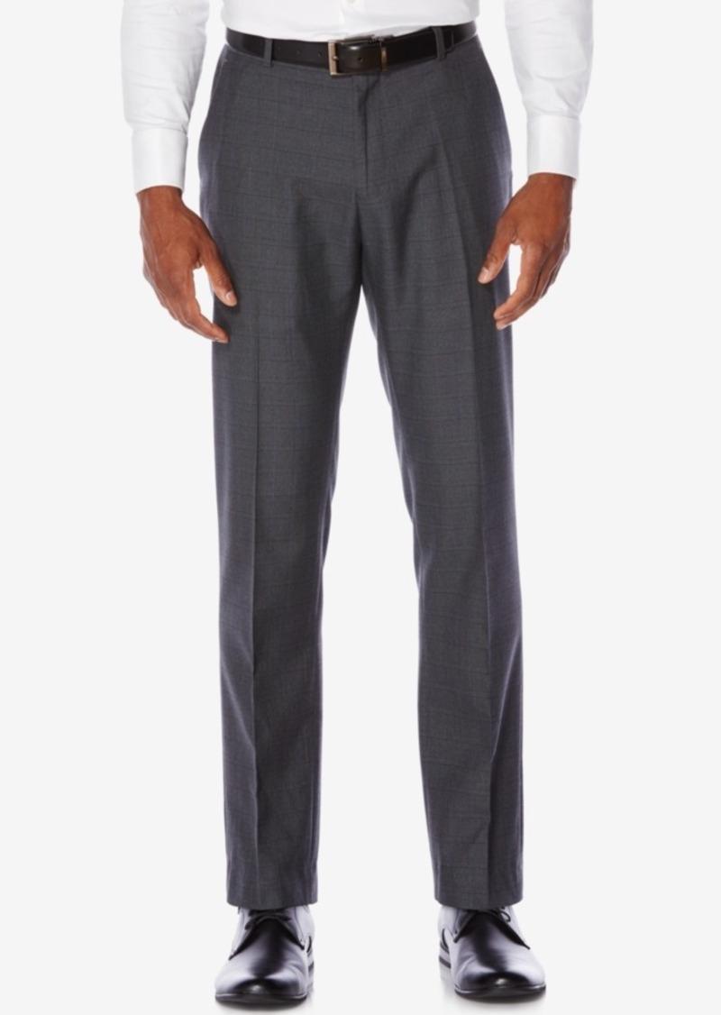 Perry Ellis Men's Slim-Fit Plaid Non-Iron Dress Pants
