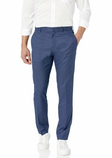 Perry Ellis Men's Slim Fit Plaid Stretch Pant True Blue-4ESB4310 40W X 32L