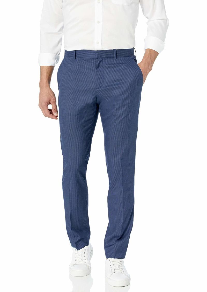 Perry Ellis Men's Slim Fit Plaid Stretch Pant True Blue-4ESB4310 40W X 32L