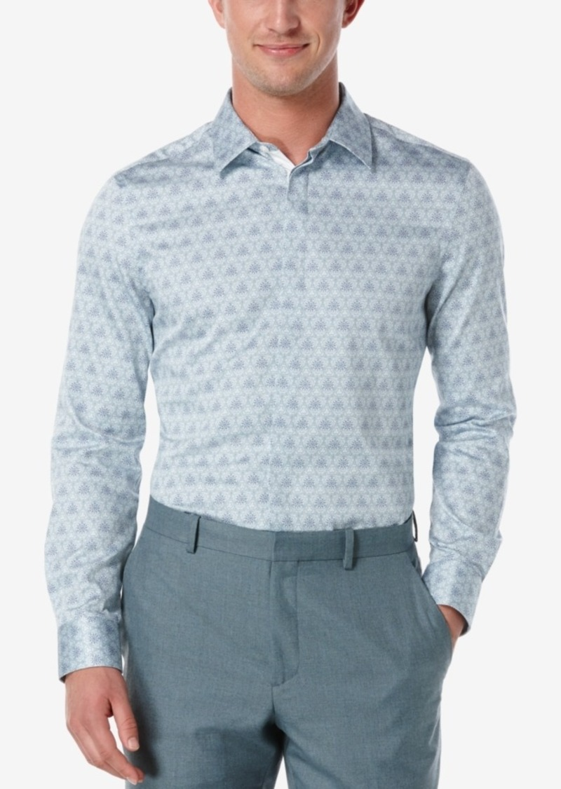 Perry Ellis Men's Slim-Fit Printed Long-Sleeve Shirt