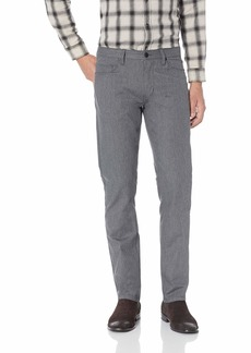 Perry Ellis Men's Slim Fit Slubbed Stretch Denim Pant Black/DFB 36W X 34L