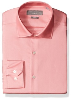 Perry Ellis Men's Slim Fit Solid Non-Iron Dress Shirt  16.5 34/35