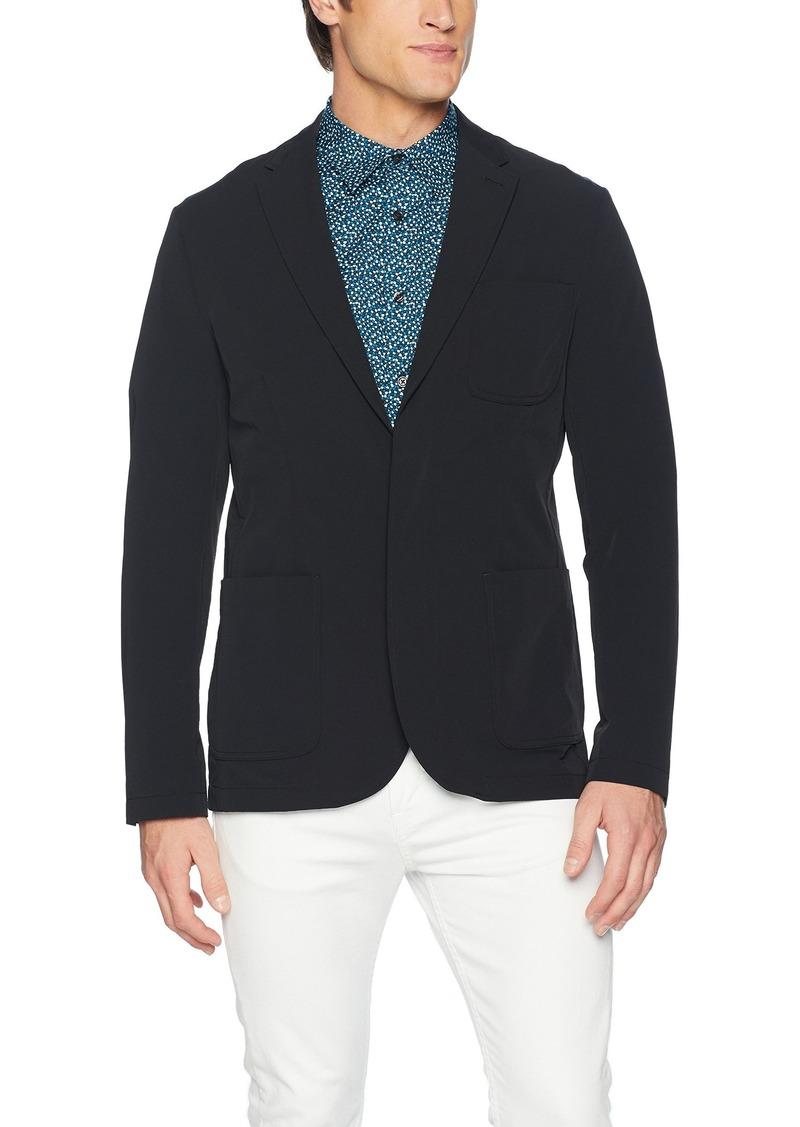Perry Ellis Men's Slim Fit Solid Stretch Sport Jacket  Extra Large