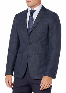 Perry Ellis Men's Slim Fit Solid Textured Jacket  Large/ Regular