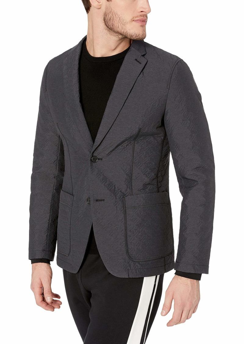 Perry Ellis Men's Slim Fit Solid Unstructured Sport Jacket Black/DFJ