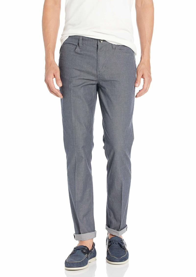 Perry Ellis Men's Slim Fit Stretch Chevron Pants alloy-4EMB7338