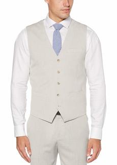 Perry Ellis Men's Slim Fit Stretch End Suit Vest natural linen/DHV