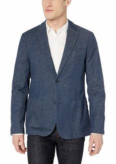 Perry Ellis Men's Slim Fit Stretch Linen Suit Jacket Medium Indigo/DHJ  Regular