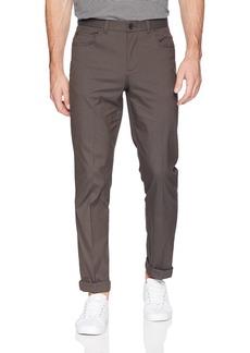 Perry Ellis Men's Slim Fit Stretch Mini Print 5 Pocket Pant rain Drum 34W X 32L