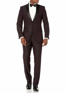 Perry Ellis Men's Slim Fit Stretch Wrinkle-Resistant Tuxedo   Regular