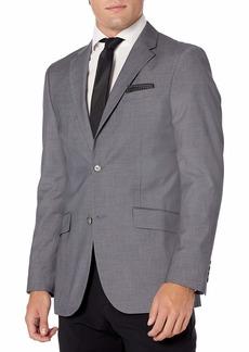 Perry Ellis Men's Slim Fit Subtle Plaid Suit Jacket  XX Large/ Regular