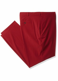 Perry Ellis Men's Slim Fit Tall Solid Tech Pant Oxblood red Stripe 46W X 30L