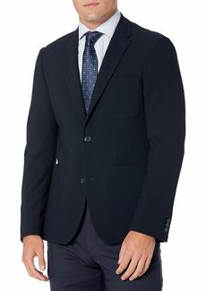 Perry Ellis Men's Slim Fit Textured Stretch Jacket  Large/ Regular