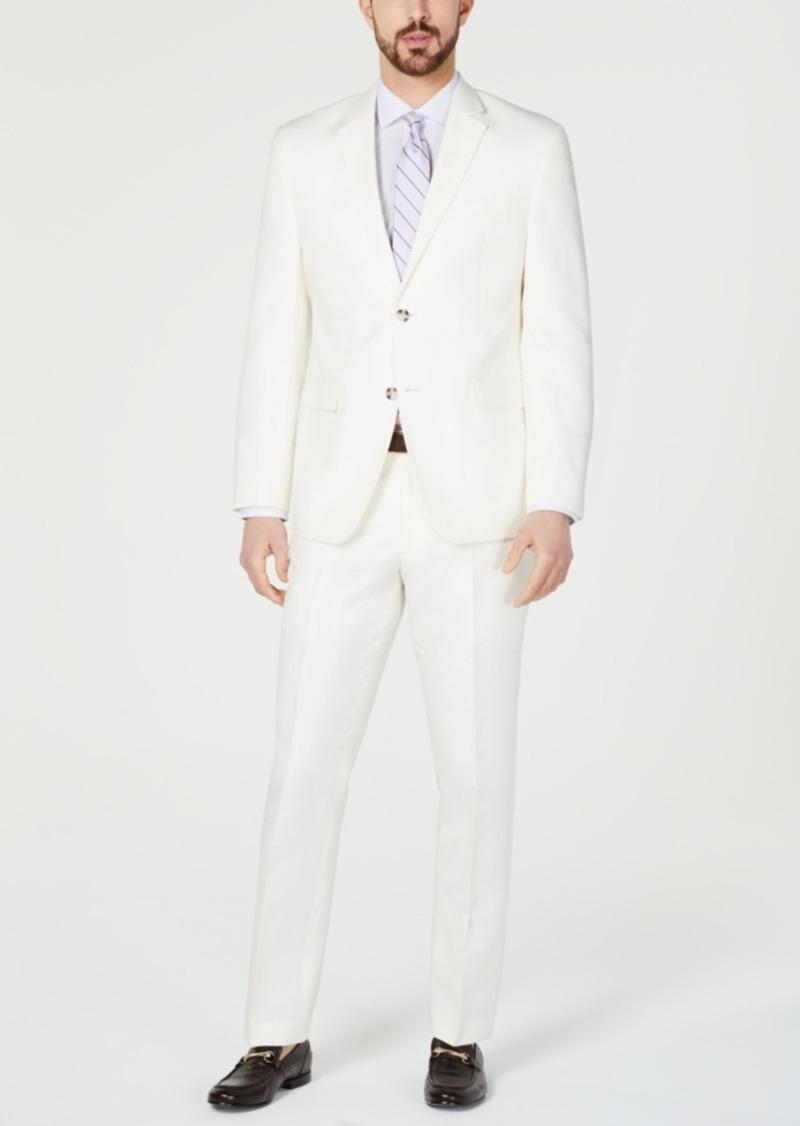 Perry Ellis Men's Slim-Fit White Suit