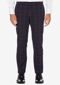 Perry Ellis Men's Slim-Straight Plaid Pants