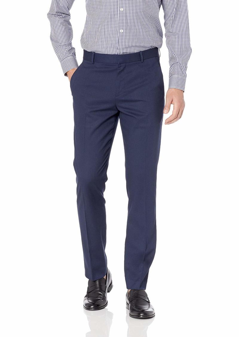 Perry Ellis Men's Solid Herringbone Slim Fit Pant  33x30