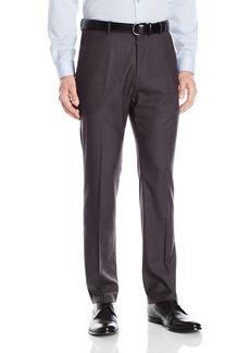 Perry Ellis Men's Solid herringbone Slim Fit Pant  33x32
