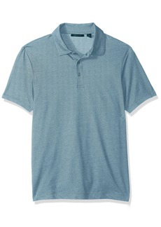 Perry Ellis Men's Solid Interlocked Polo Shirt  Extra Extra Large