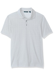 Perry Ellis Men's Solid Interlocked Polo Shirt  Extra Large