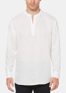 Perry Ellis Men's Solid Linen Popover Shirt