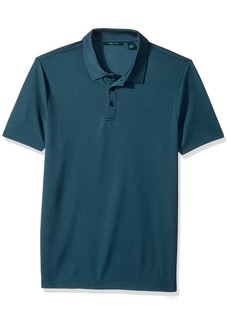 Perry Ellis Men's Solid Ottoman 3 Button Polo Shirt
