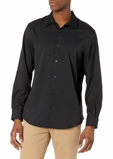 Perry Ellis Men's Solid Perforated Dress Shirt