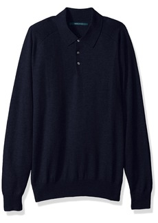 Perry Ellis Men's Solid Polo Sweater  Extra Large