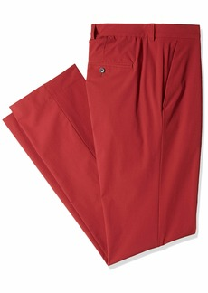 Perry Ellis Men's Solid Tech Pant Big Size Oxblood red 36W X 36L