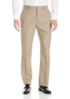 Perry Ellis Men's Solid Texture Flat Front Suit Pant  33x32