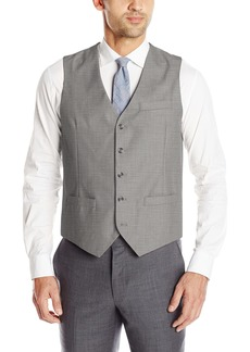 Perry Ellis Men's Solid Texture Suit Vest