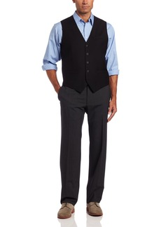 Perry Ellis Men's Solid Vest Black