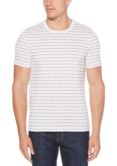 Perry Ellis Men's Space Dye Striped Crew