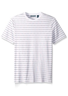 Perry Ellis Men's Space Dye Striped Crew  Extra Large