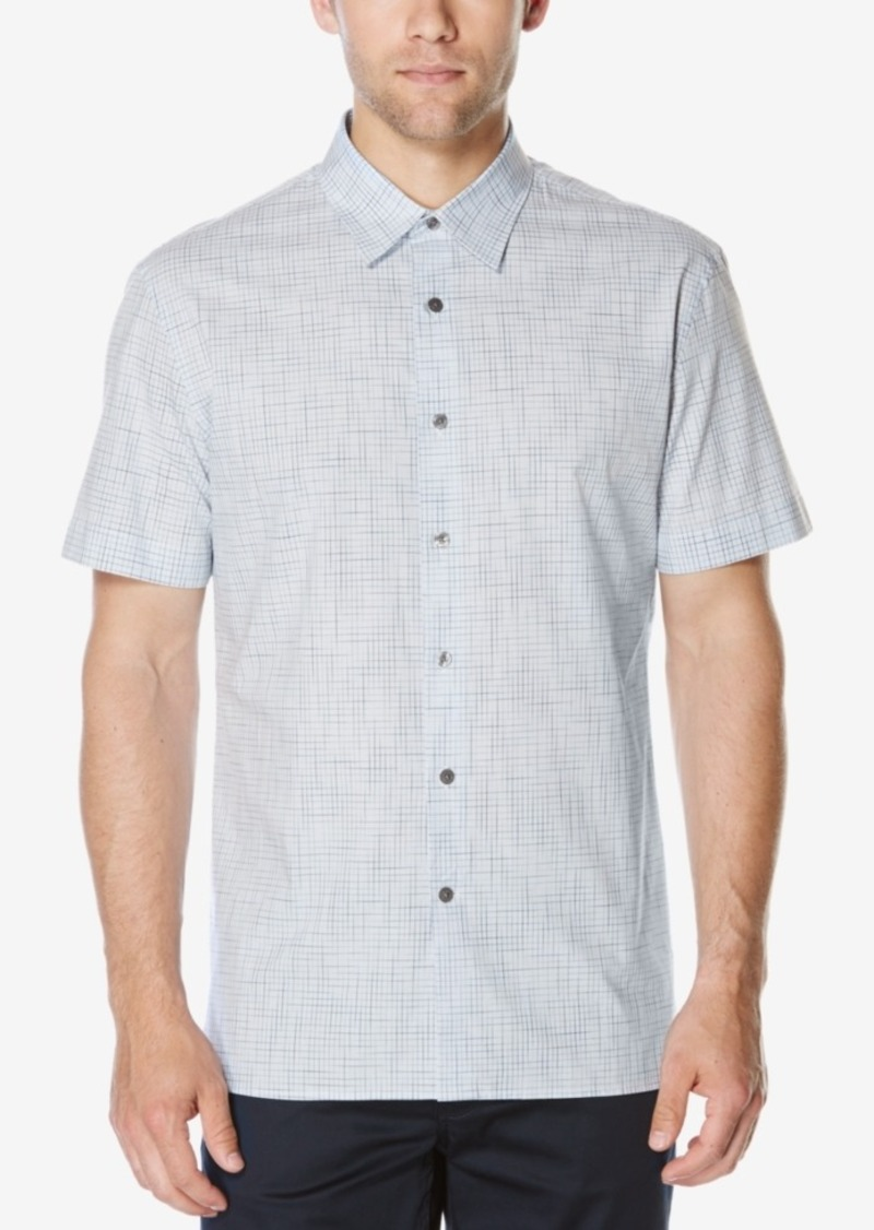 Perry Ellis Men's Space Dyed Check Shirt