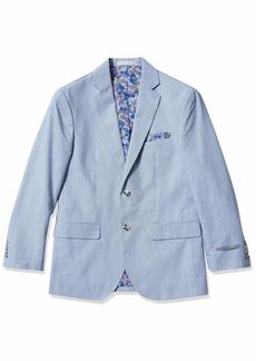 Perry Ellis Mens Sport Coat White w/Blue Stripe