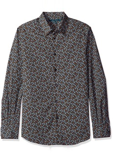 Perry Ellis Men's Stormy Floral Shirt  L
