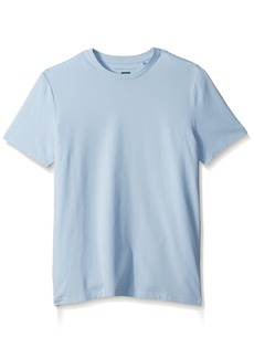 Perry Ellis Men's Stretch Pima Crew Neck Tee Shirt Kentucky Blue