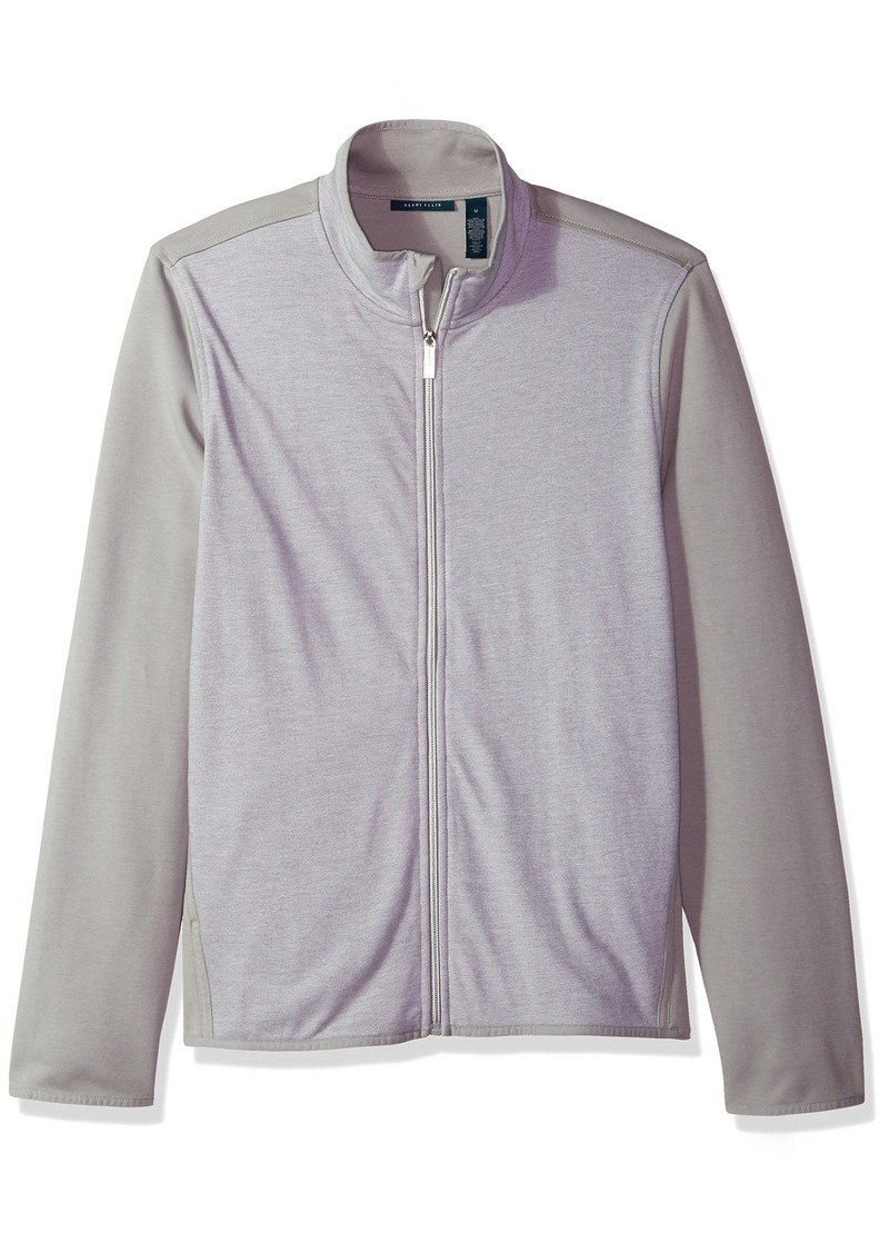 Perry Ellis Men's Texture Full Zip Knit Jacket