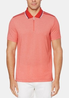 Perry Ellis Men's Tipped Zipper Polo