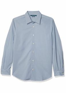 Perry Ellis Men's Total Stretch Mini Geo Print Long Sleeve Button-Down Shirt  X Large