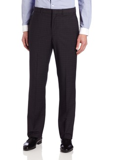Perry Ellis Men's Travel Luxe Modern Fit Check Pant  34x32