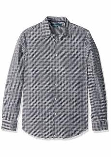 Perry Ellis Men's Variegated Print Shirt Dark Sapphire/DFW