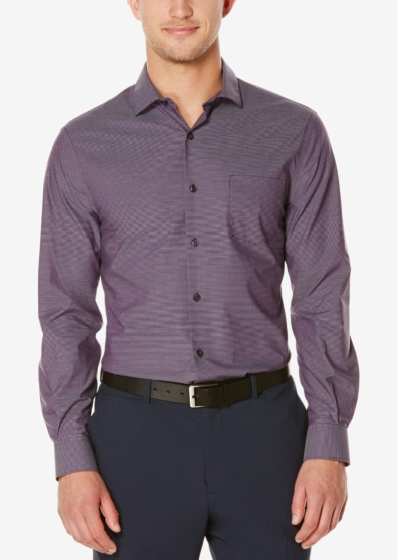 Perry Ellis Men's Vertex Striped Long-Sleeve Shirt